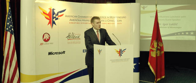 AmCham Hosts Business Luncheon with Prime Minister Lukšic