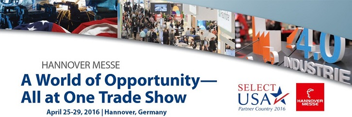 Hannover Messe Trade Show, April 25-29, 2016
