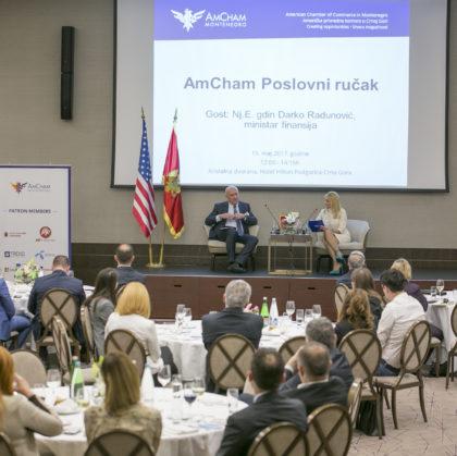 AmCham Business Luncheon with Minister of Finance, H.E. Darko Radunović