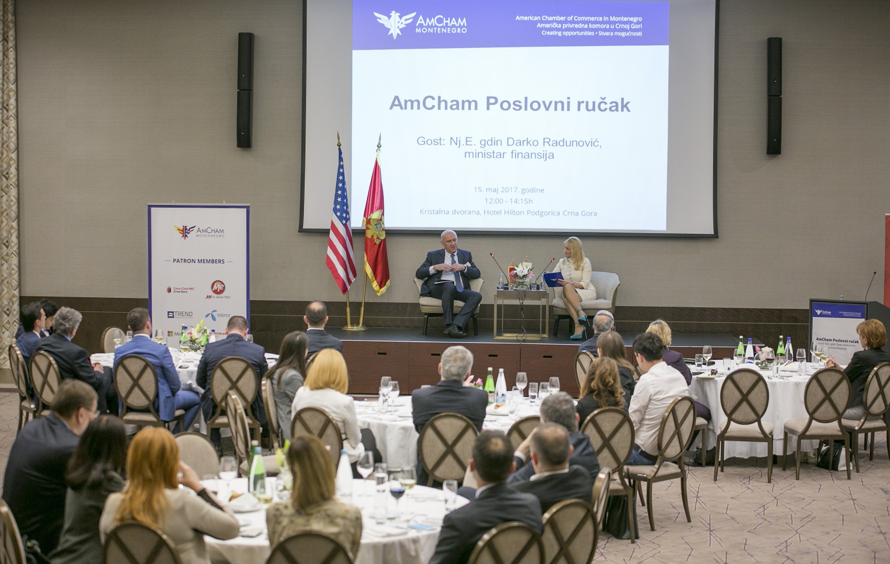 AmCham Business Luncheon with Minister of Finance, H.E. Darko Radunović