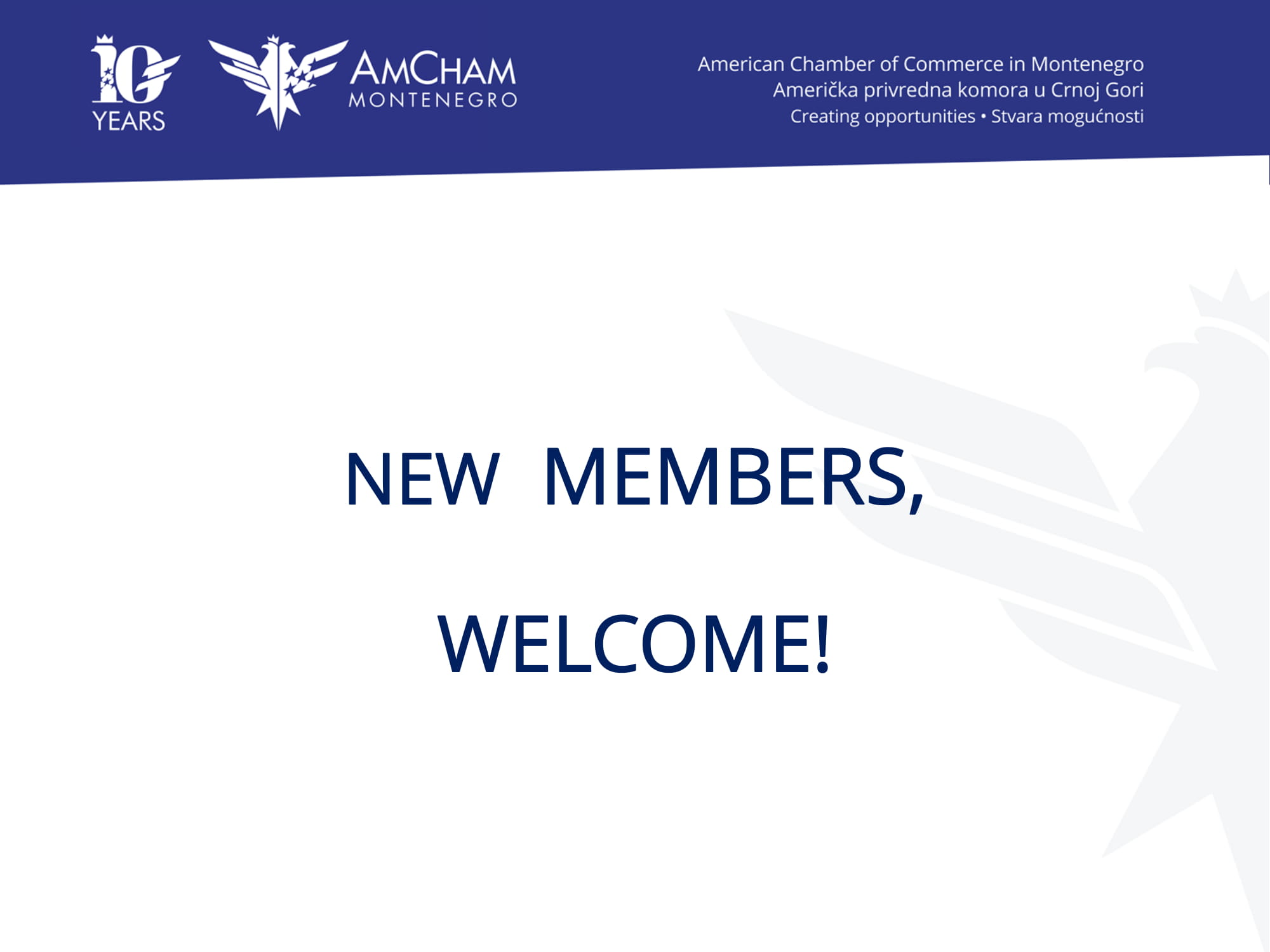 New Members Join Our Community