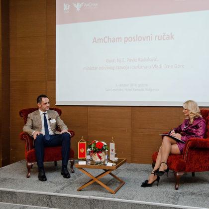 Minister Pavle Radulović guest of the Amcham's business luncheon