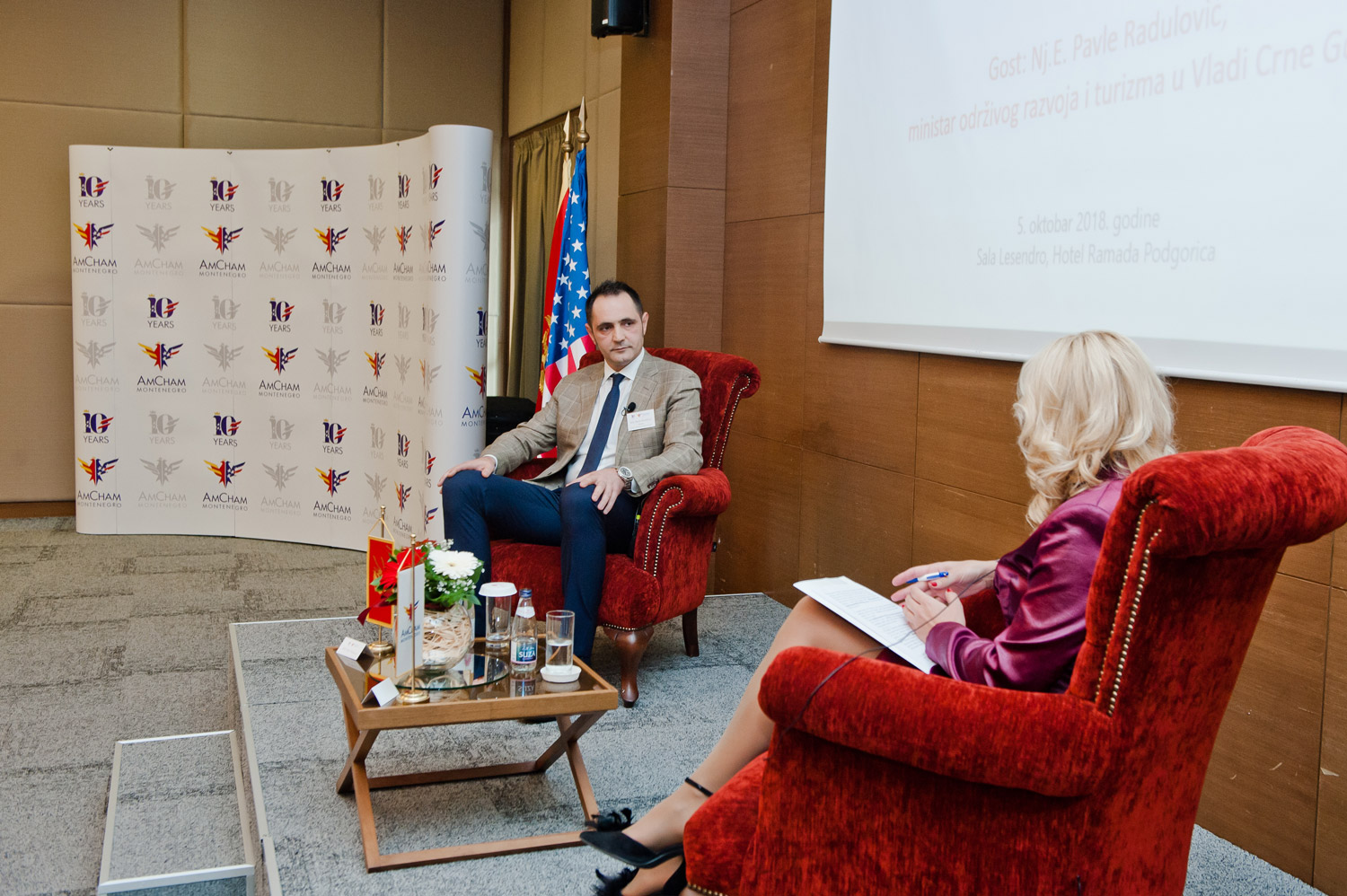 AmCham Business Luncheon with H.E. Pavle Radulović, Minister of Sustainable Development and Tourism, October 5, 2018